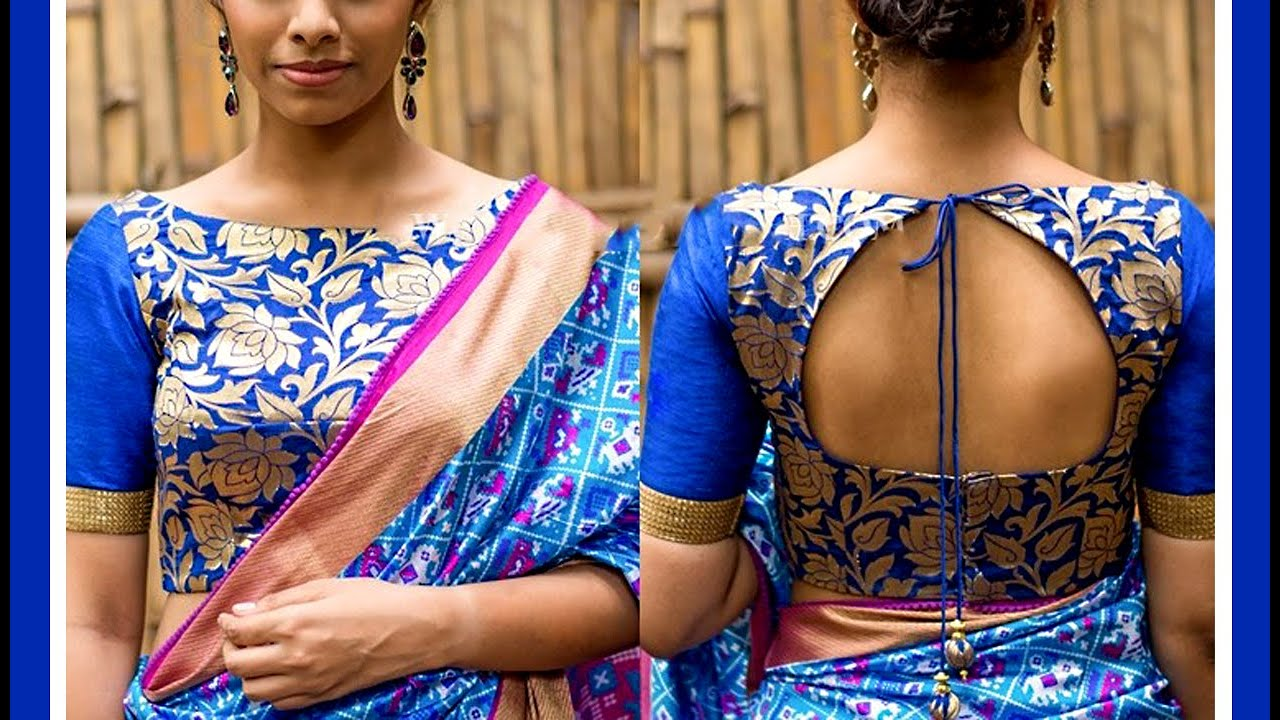 Blouse Boat Neck Cutting Blouse Front And Back Boat Neck Youtube