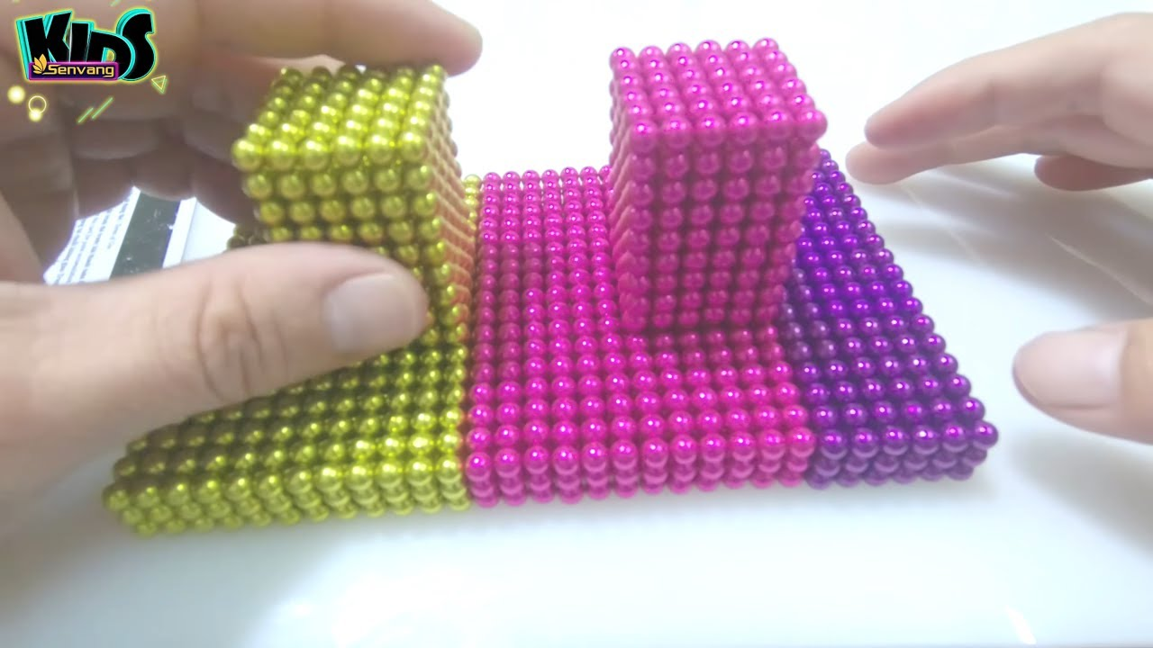 Magnetic Balls - How to make RAINBOW BRIDGE and MAGIC CUBE - DIY