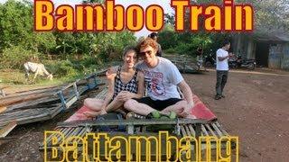 Bamboo Train in Battambang, Cambodia (Norry Ride / Nori Rail) ណូរី (Cambodia's Bamboo Train)