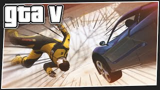 CARS vs RUNNERS - GTA 5 Online (GTA V Funny Moments)