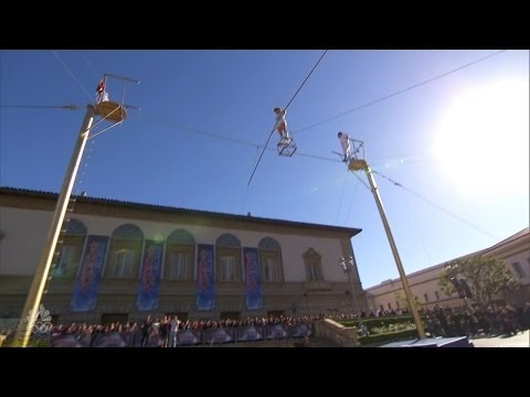 America's Got Talent 2016 Duo Guerrero Incredible High Wire Act Full Audition Clip S11E03
