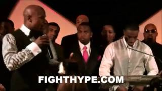 FLOYD MAYWEATHER RECEIVES FIGHTER OF THE YEAR AWARD AT INAUGURAL NEVADA BOXING HALL OF FAME DINNER