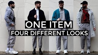 1 ITEM, 4 DIFFERENT LOOKS | ASOS White Trackpants | Men's Fashion | Daniel Simmons