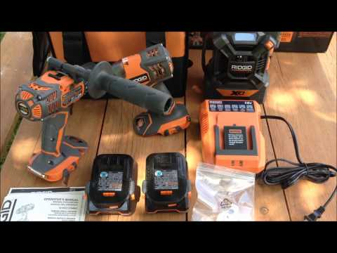 RIDGID 18V X4 Hyper Compact Drill and Impact Driver Un-boxing and Review