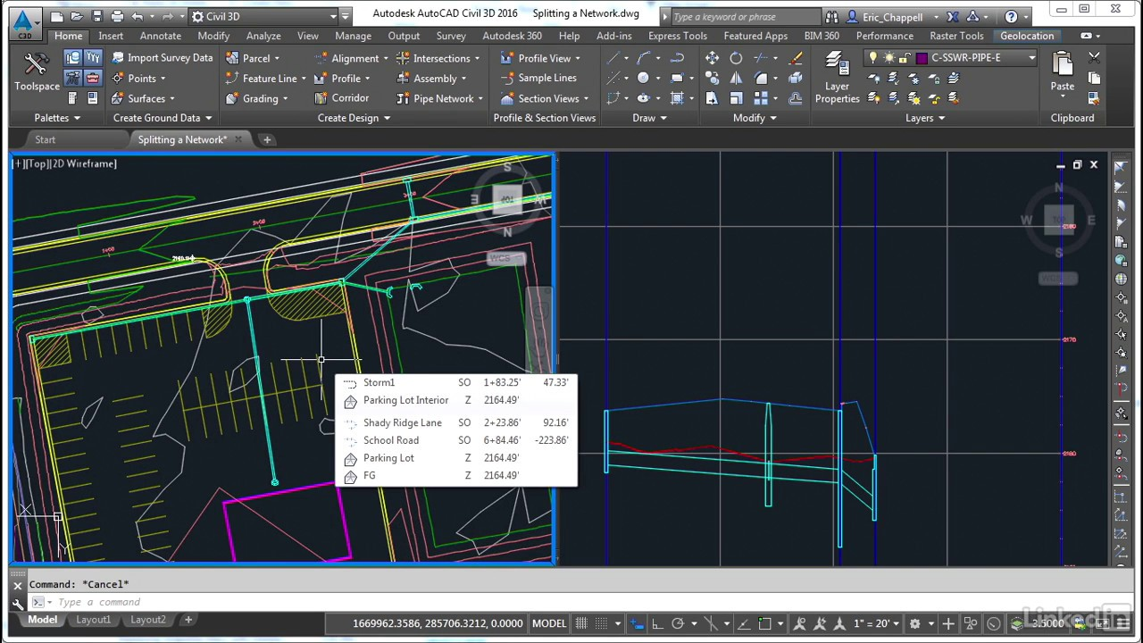 Civil 3D: Designing Gravity Pipe Systems | Merging a network | Civil