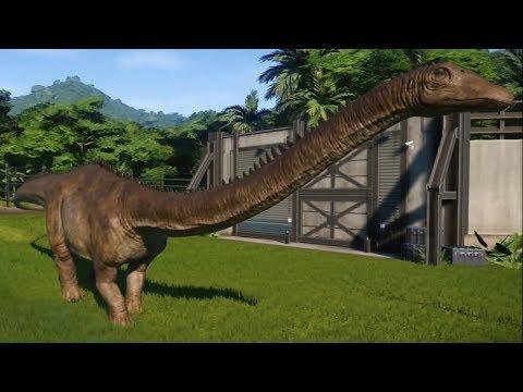 Jurassic World Evolution - Diplodocus Gameplay (PS4 HD) [1080p60FPS]