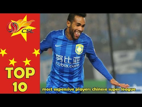 TOP 10 most expensive players Chinese Super League [2016]