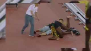 Usain Bolt Hit by Camera Man on a Segway Scooter in Beijing China 2015 Live Video