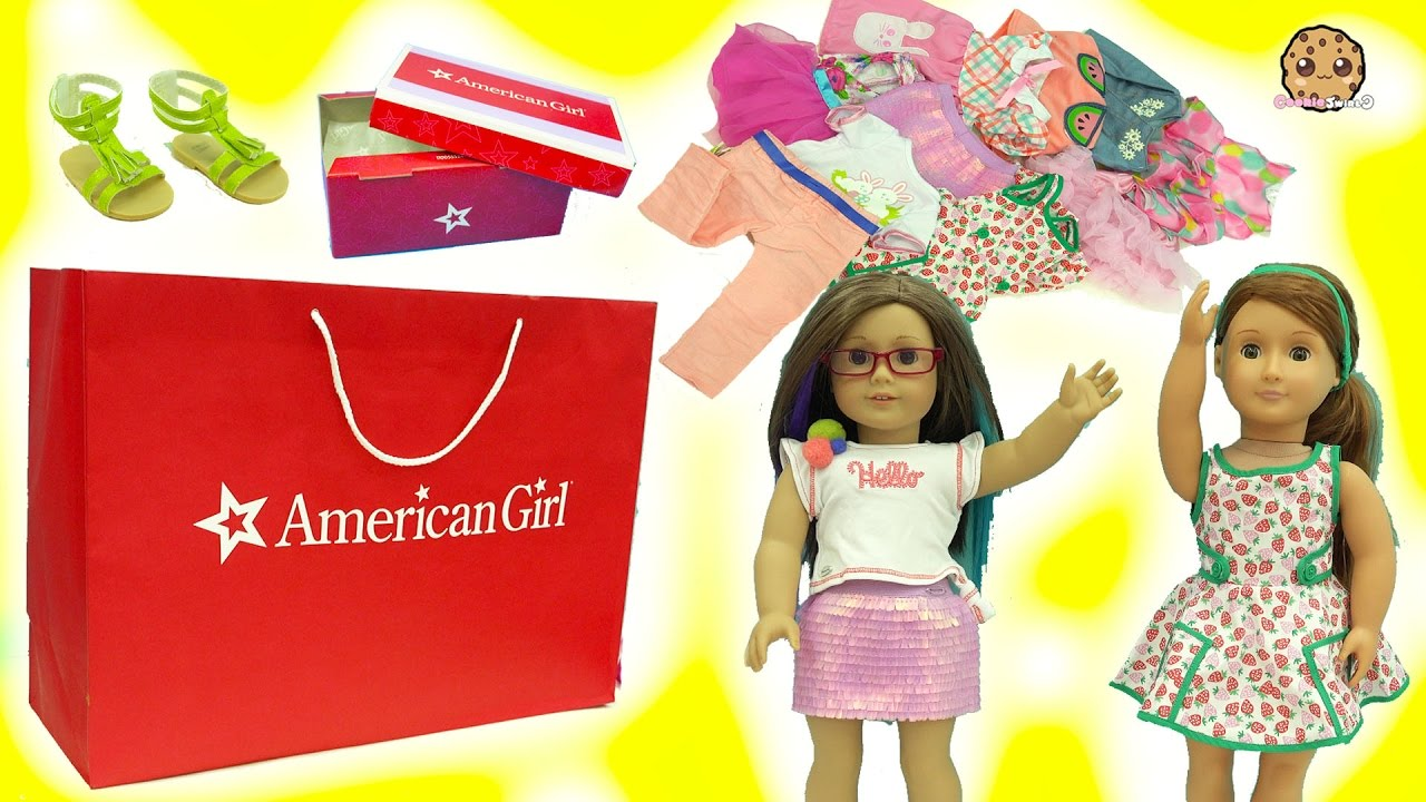 263baa83d5f8 American Girl, Our Generation, My Life As Dolls Giant Clothing Haul Try On  Video