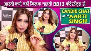 Aarti Singh Candid With Telly Reporter: Family Time, Asim Riaz, Rashami, Sidnaaz & BB13 Contestants