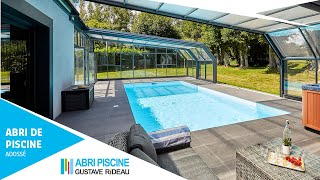 Abri de piscine adossé Attik 2 angles