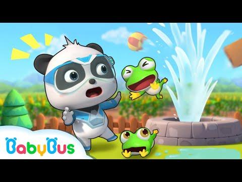 隆La Casa de Rana Beb茅 Est谩 En Peligro!   S煤per Panda H茅roes   Dibujos Animados Infantiles   BabyBus