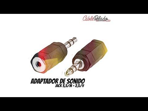 Video de Adaptador audio estereo JACK 2.5/H-JACK 3.5/M  Negro
