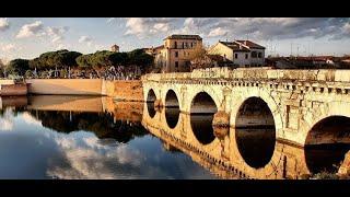Древний Рим/Мост Тиберия/Римини/Италия/Каникулы/Отпуск