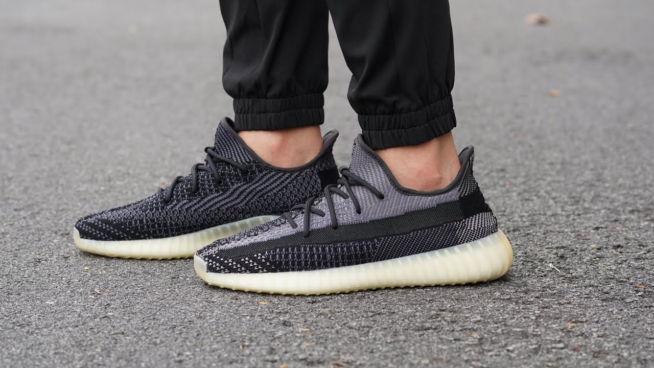 Adidas Yeezy 350 V2 CARBON: REVIEW & ON FEET - Cleanest Yeezy This Year
