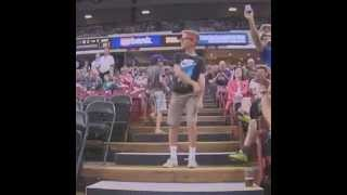 Funny Kid dances like Napoleon Dynamite in Sacramento Kings wins game