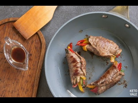 Keto Grilled Steak Rolls With Vinegar Glaze Sauce Low Carb Recipe