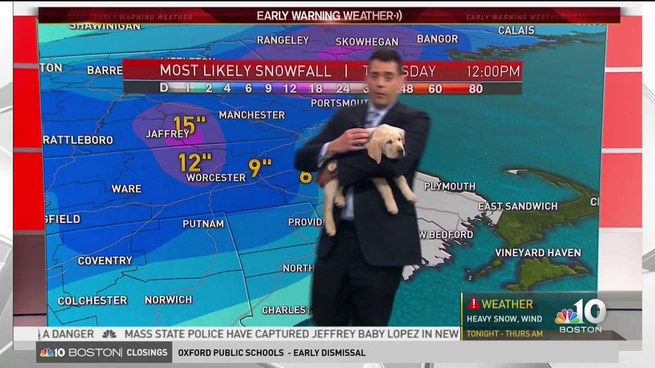 NBC 10 Boston Weather Update with Brady