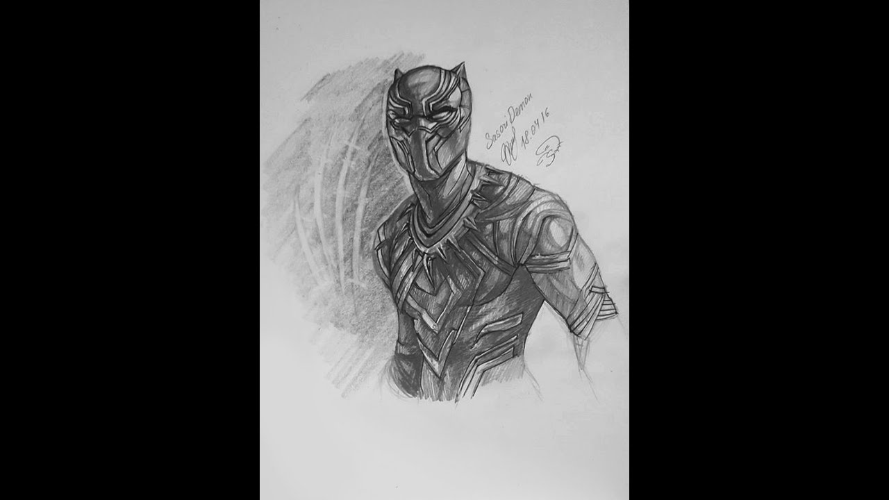 marvels black panther speed drawing youtube
