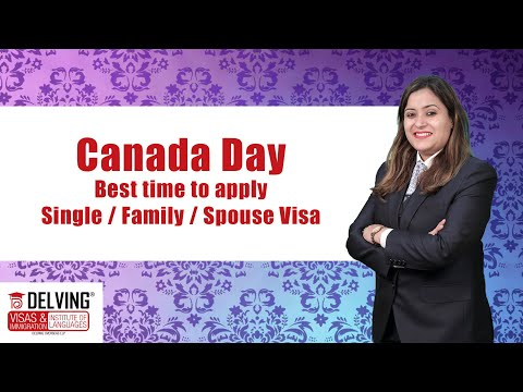 Canada Day 🇨🇦 🇨🇦 . Best time to apply / Single / Family / Spouse Visas