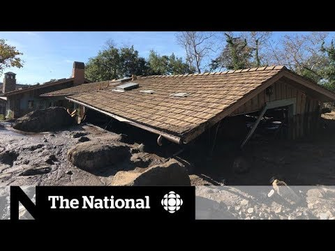 Desperate search for survivors in California mudslides