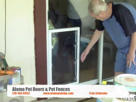 Pet Door In Sliding Glass San Antonio Texas Youtube
