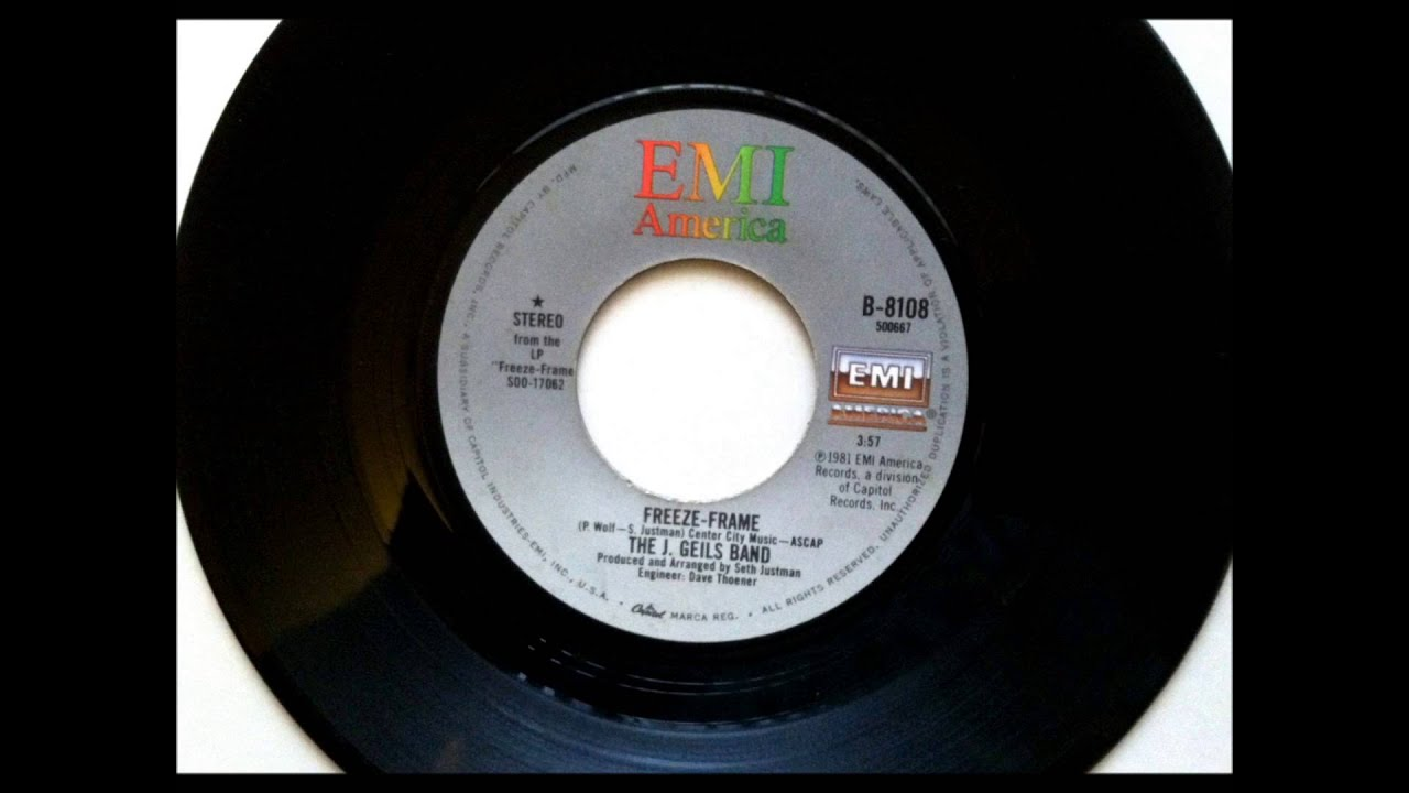Freeze Frame , J Geils Band , 1981 Vinyl 45RPM - YouTube