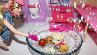 Novela da Barbie - Banho de espuma nos cachorros! Capítulo:.3