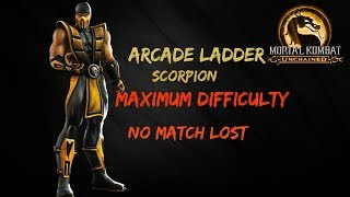 Mortal Kombat:Unchained (Deception)Scorpion Arcade Ladder Very Hard [No Match Lost ]