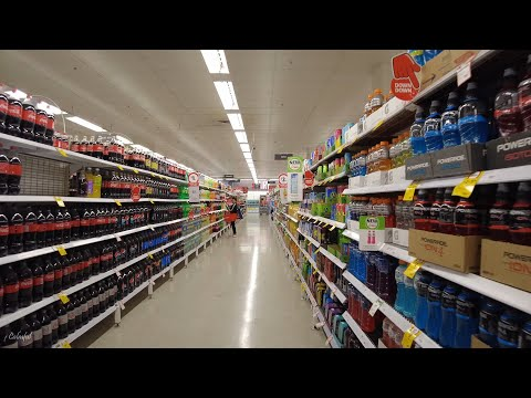 What Supermarkets in Australia Look Like | Woolworths & Coles Sydney 4K Walk