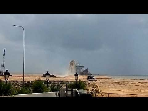 Port city project sand reclamation sri lanka by chinese