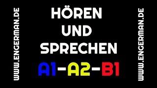 Hören und Sprechen #1 | A1-A2-B1 | mit Untertiteln