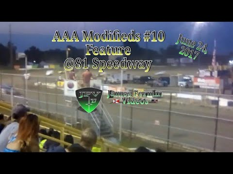 AAA Modifieds #11, Feature, 81 Speedway, 2017