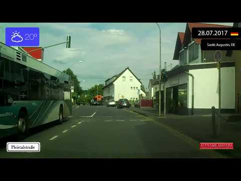 Driving from Siegburg to Sankt Augustin (Germany) 28.07.2017 Timelapse x4