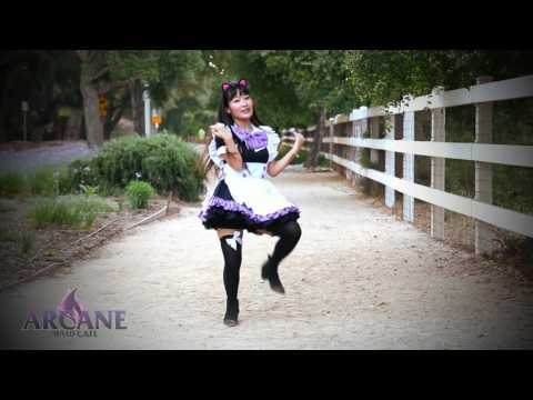Koi Dance 恋ダンス Maid Cosplay Cafe Love Dance Cover Tutorial 【MIRRORED】