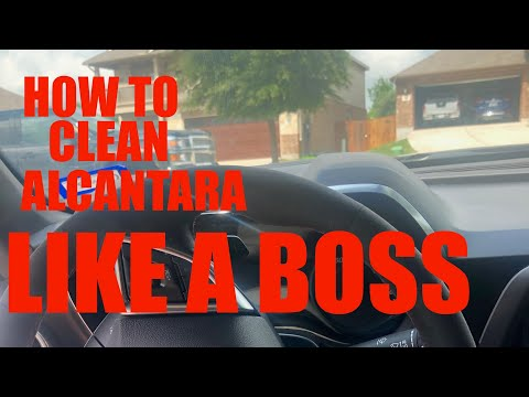 HOW TO CLEAN ALCANTARA or SUEDE LIKE A BOSS ! Plus DISCOVER Pro-Tips to cleaning your Vehicle!!