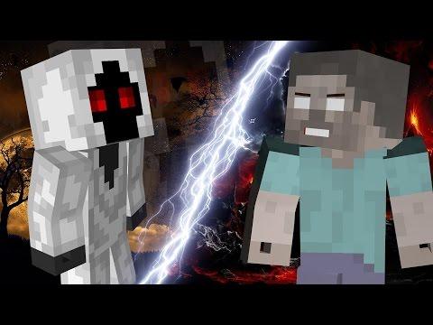 Minecraft - Entity 303 Vs Herobrine Fight