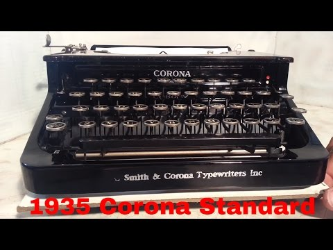 L C Smith & Corona Flat Top Vintage Antique (almost) Manual Typewriter 1935