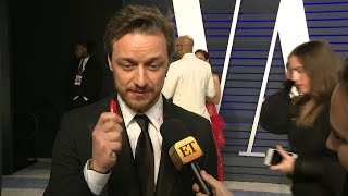 2019 Oscars: James McAvoy Reveals What He Plans to Do With His Autographed Shirt (Exclusive)