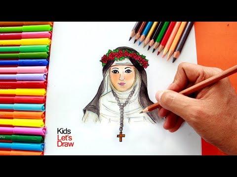 Cómo dibujar y pintar a SANTA ROSA DE LIMA (paso a paso) | How to ...