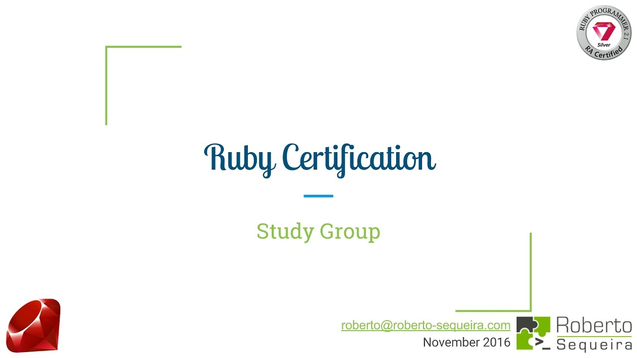 Ruby Certification Session 5 Youtube