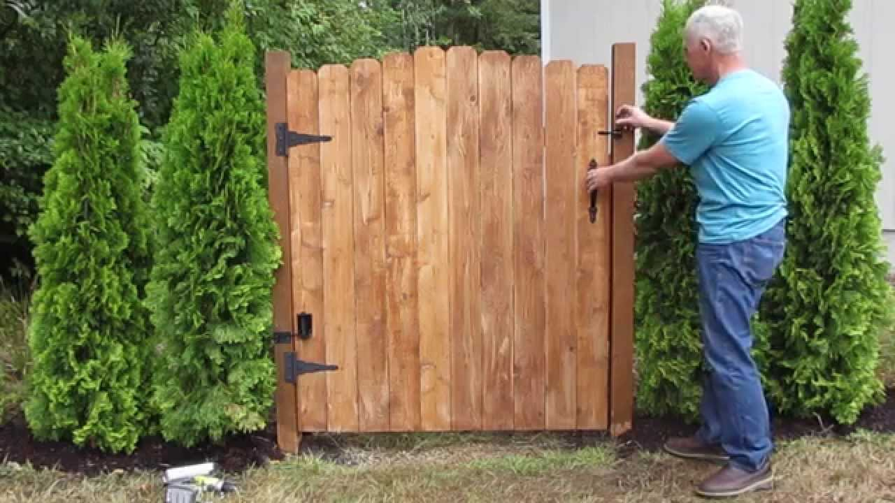 Gate Closer For Wood Gates That Actually Works Youtube