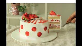 Eggless Strawberry Shortcake Recipe  Eggless Sponge Cake