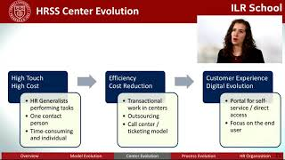 CAHRS: HR Shared Services (HRSS): Models and Trends