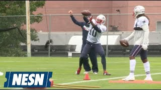 Josh Gordon catches first passes at Patriots practice