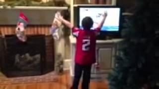 Biggest 8 year old sports fan