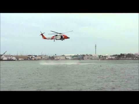 US Coast Guard Helicopter 6014 HH-60J Jayhawk Clearwater rescue demonstration St. Petersburg