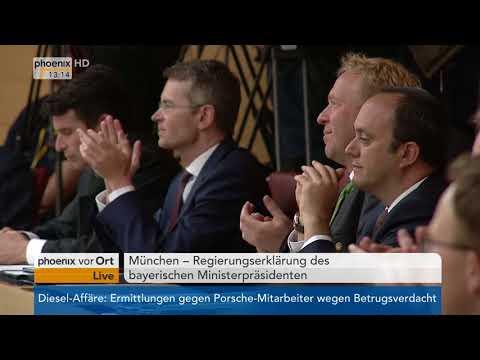 Regierungserklärung des bayerischen Ministerpräsidenten Markus Söder am 18.04.18