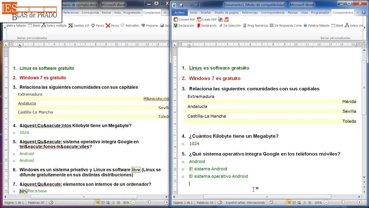 7. Aula Virtual. Cuestionario con plantilla - YouTube