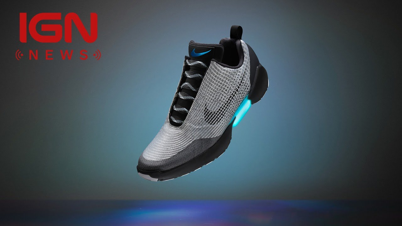 Nike Reveals Auto-Lacing Shoes You'll Actually Be Able to Buy - IGN News -  YouTube